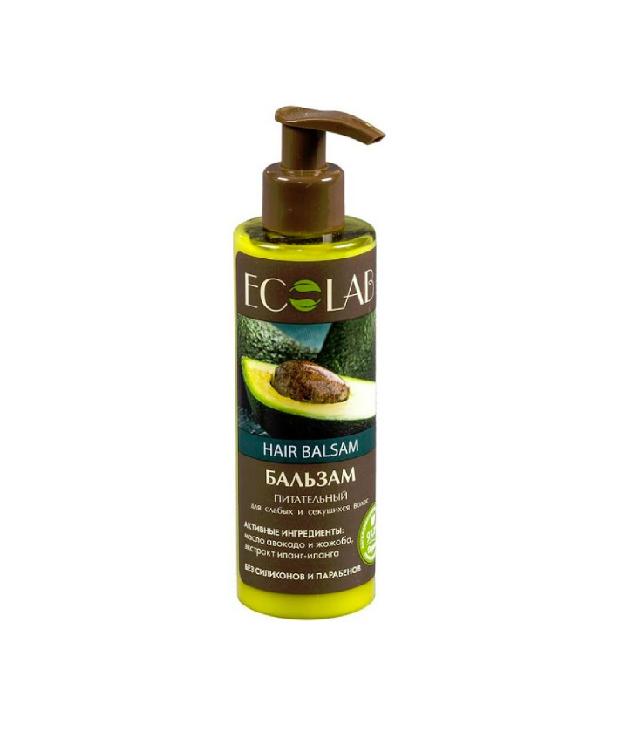 Eco Laboratorie odżywczy balsam do włosów z awokado butelka z dozownikiem 200 ml