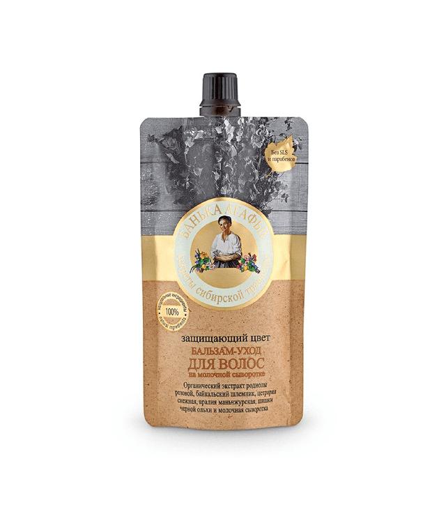 Babuszka Agafia Ochrona Koloru - balsam do włosów farbowanych saszetka 100 ml