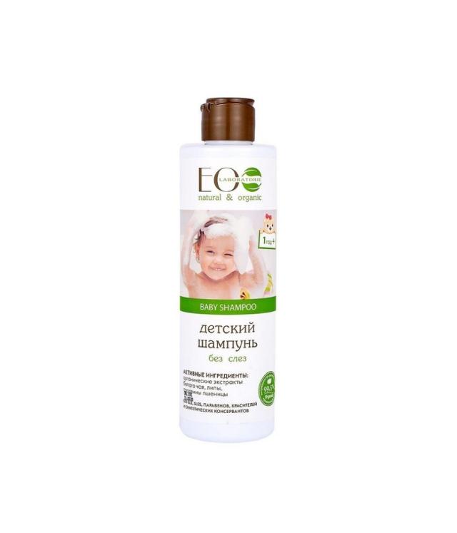 """Eco Laboratorie - delikatny szampon dla dzieci 1+ """"bez łez"""", biała herbata i kwiat lipy"""