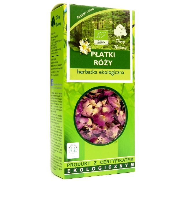 Dary Natury Płatki Róży - susz ziołowy w pudełku z okienkiem