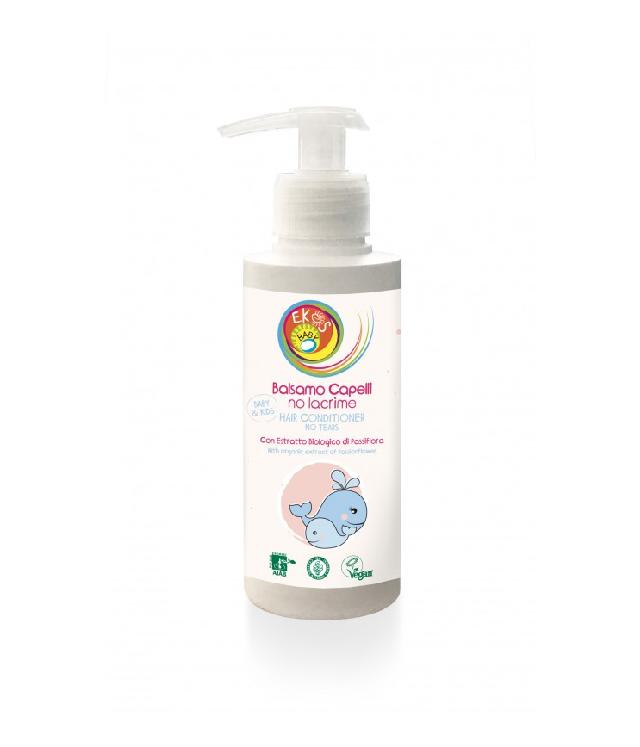 Ekos Baby lekka odżywka do włosów dzieci butelka z pompką dozującą 200 ml