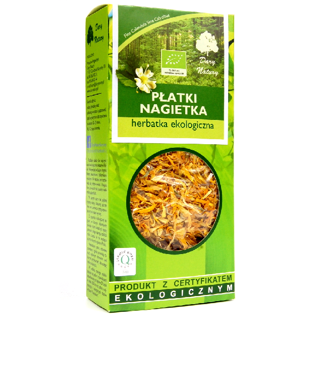 Dary Natury Płatki Nagietka susz ziołowy w pudełku 25g