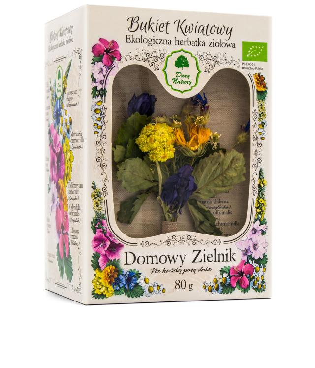 Dary Natury Bukiet Kwiatowy - mieszanka ziół do włosów i skóry głowy w ozdobnym pudełku z okienkiem