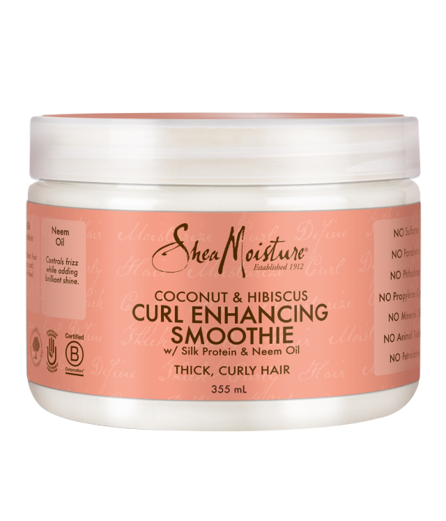 Shea Moisture Coconut & Hibiscus Curl Enhancing Smoothie odżywka bez spłukiwania do grubych włosów 355 ml