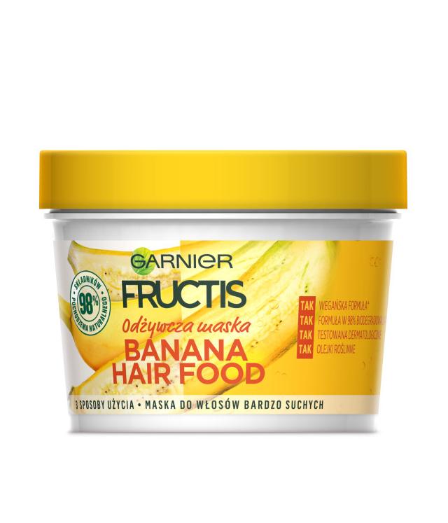 Garnier Fructis Banana Hair Food maska 390 ml
