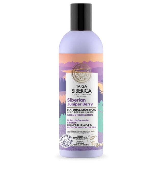 Taiga Siberica Juniper Berries oczyszczający szampon z jałowcem butelka 270 ml