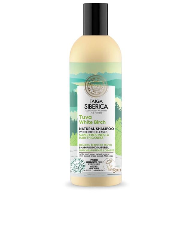 Taiga Siberica Tuva White Birch Szampon butelka 270 ml