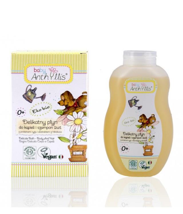 Anthyllis Baby delikatny płyn do kąpieli dla dzieci 0+ butelka 400 ml