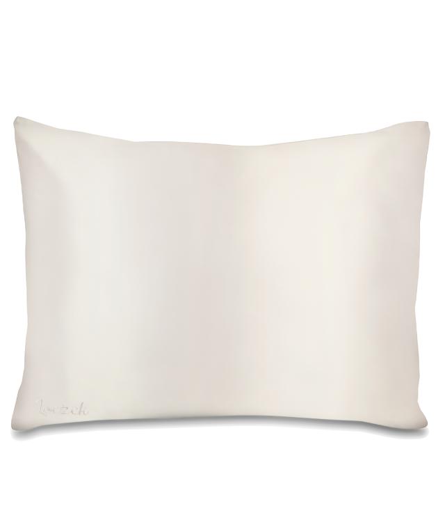 Loczek Jedwabna poszewka na poduszkę 50x60 cm kremowa w ozdobnym pudełku