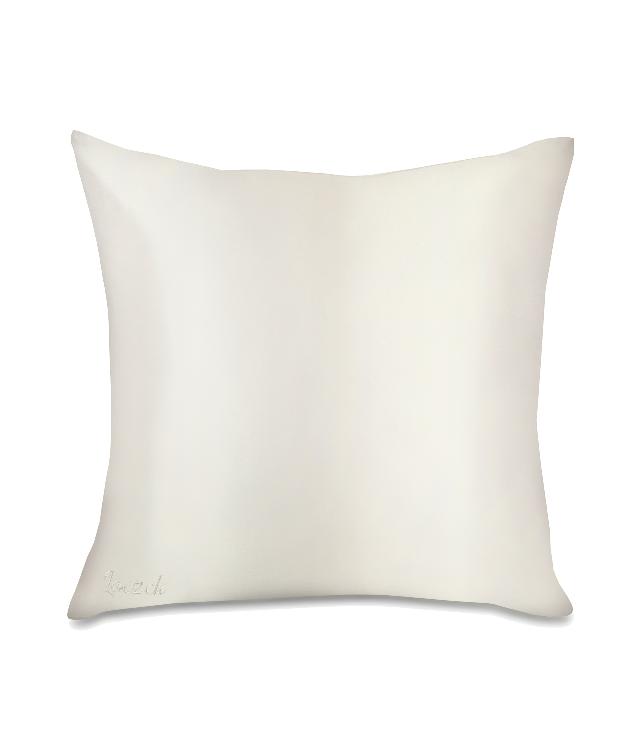 Loczek Biała Peonia jedwabna poszewka na poduszkę kolor kremowy 40x40 w ozdobnym pudełku