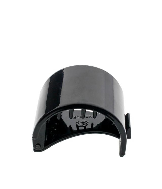 Półokrągła Spinka Klamerka kolor czarny 4x3 cm