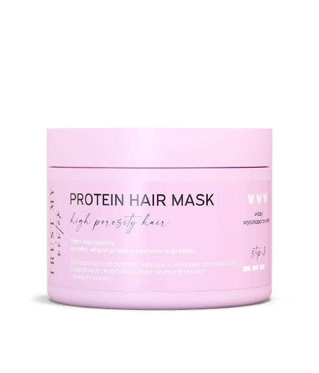 Trust My Sisiter maska do włosów wysokoporowatych proteinowa słoik 150 ml