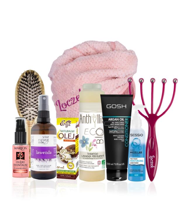 Loczek Box Prezentowy dla mamy prostowłosej Dzień Mamy kosmetyki i akcesoria