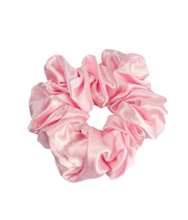 OnlyGHD satynowa scrunchie gumka do włosów kolor pastelowy róż