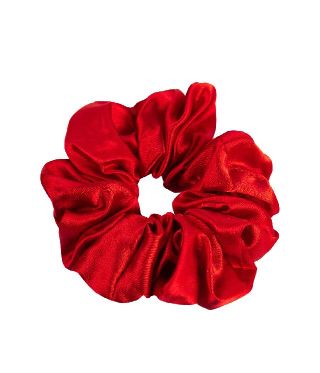 OnlyGHD satynowa scrunchie czerwień Flame Scarlet
