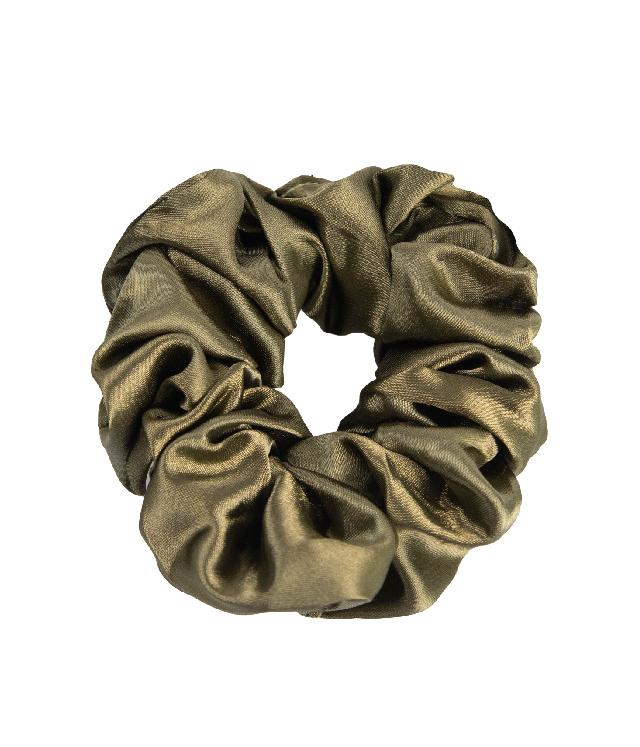 OnlyGHD satynowa scrunchie kolor khaki