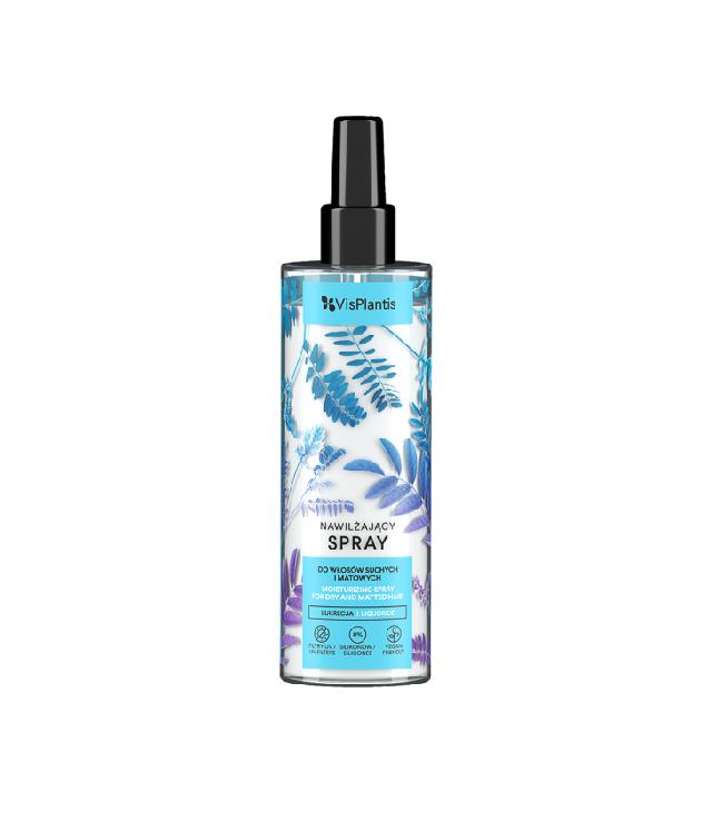 Vis Plantis nawilżający spray do włosów z lukrecją i filtrem UV butelka z atomizerem 200 ml