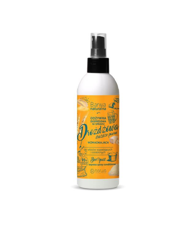 Barwa Naturalna Ekspresowa odżywka drożdżowa wzmacniajaca w sprayudo włosów wypadających i osłabionych atomizer 200 ml