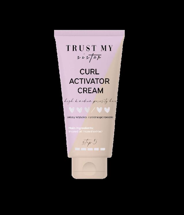 Trust My Sister Curl Activator Cream krem stylizujący do loków i fal włosy średnio i wysokoporowate tuba 150 ml